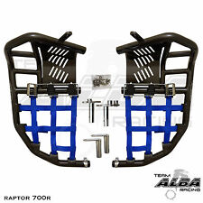 Yamaha Raptor 660  Nerf Bars  Pro Peg Heel Gaurds  Alba Racing  Black/Blue