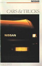 1988 NISSAN Brochure/Pamphlet:SENTRA,PULSAR,MAXIMA,200SX,300ZX,PickUp,PATHFINDER