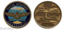 """CENTENNIAL OF NAVAL AVIATION  1911-2011 NAVY 2"""" MILITARY CHALLENGE COIN"""