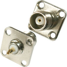 TNC Female Socket Panel Mount Solder Connector - For Coaxial Wall Plate Chassis