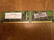 INFINEON RAM MEMORY- 128 MB,DDR,333,CL.2.5  HYS64D16301GU-6-B  PC2700U-25330-CO