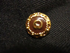 ST JOHN Marie Gray  SJ Gold Brown Enamel HARD TO FIND (1) button Just LOVELY!!!