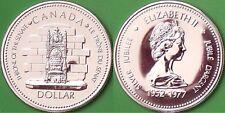 1977 Canada Silver British Throne Dollar Graded as Specimen
