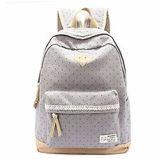 Women Canvas Girl Shoulder School Bag Satchel Rucksack Handbag Girls Backpack