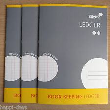 NEW - 3 x A4 BOOK KEEPING LEDGER - Accounts Office Home Cash Books x 3