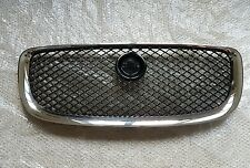 Genuine Jaguar XJ X351 Front Black Grille with  Red & Chrome Badge  2012-On