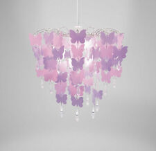 Butterfly Chandelier Ceiling Pendant Light Shade Crystal, Easy Fit Universal