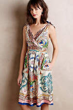Anthropologie Collette Dinnigan Tied Acionna Silk Dress 6 NWT