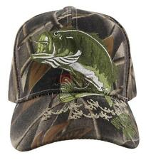 BIG BASS FISHING OUTDOOR SPORTS CAP HAT FOREST CAMO