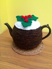 Hand Knitted Christmas Pudding Tea Cosy
