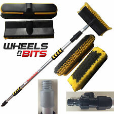 EXTENABLE 2M METRE 6.6FT PLUS 2 HEADS CAR VAN TRUCK BUS CARAVAN WASHING BRUSH