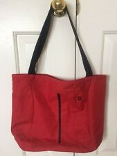 Victorinox Swiss Army Knife Tote Bag 16 X 12 Red Canvas Book Bag Shoulder