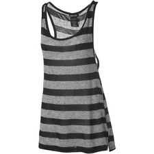 Oakley Work It Out Tank Top - Women's Size Large Jet Black - Striped Sleeveless