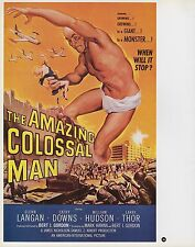 "2003 Vintage Horror ""The Amazing Colossal Man"" MINI Art Plate Lithograph"