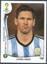 PANINI WORLD CUP 2014- #430-ARGENTINA & BARCELONA-LIONEL MESSI
