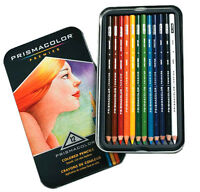 Prismacolor Premier Soft Core Colored Pencils 12 Colors Tin Set New