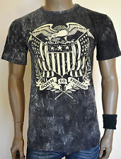 Born To Freedom Fighter Biker Military Navy Seal Eagle TIE DYE T-Shirt S-L