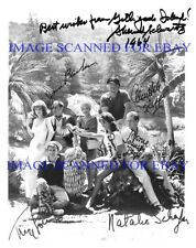 GILLIGANS ISLAND SS MINNOW CAST AUTOGRAPHED 8x10 RP PHOTO BY ALL 8 GILLIGAN'S