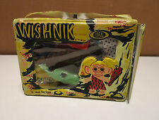VINTAGE IDEAL WISHNIK UNEEDA TROLL DOLL & VINYL CARRY CASE With CLOTHES