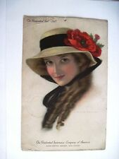 "1917 ""Prudential Advertising Calendar w/ Gorgeous Woman by C. Warde Traver*"