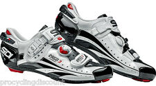 NEW SIDI Ergo 3 Carbon Vernice Road Cycling Shoes White/Black: Euro 43 US 9