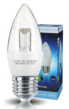LED 5W Candle Light Bulb High Power E27 Replacement for 50W Warm White