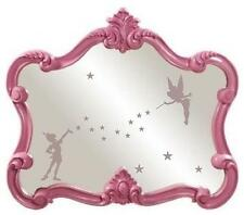 GIRLS ETCHED GLASS TINKERBELL & PETER DECAL STICKER FOR MIRROR BEDROOM NURSERY
