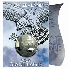 Neuseeland 2009 Giant Eagle 1$ New Zealand 1 Unze Silber BU in Card / Blister