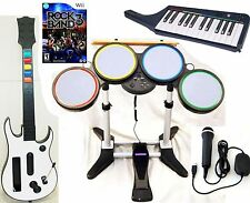 NEW Nintendo Wii-U/Wii ROCK BAND 3 Game Set w/Wireless Guitar KEYBOARD Drums kit