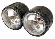 Streetfighter Custom Motorcycle Carbon Fibre Effect Twin Headlights