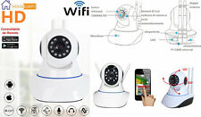 IP Camera telecamera WIFI registra micro SD.Infrarossi,colori,2 antenne,registra