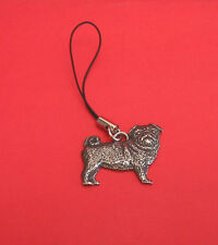 Pug Dog Pewter Mobile Phone USB Stick Charm Vet Pet  Mum Dad Pug Gift