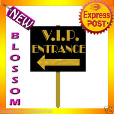 PD19  Red Carpet Hollywood VIP Entrance 61cm Garden Yard Sign Party Decorations