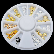 3D Nail Art Decoration Sea World Alloy Glitter Rhinestones Jewelry With Wheel