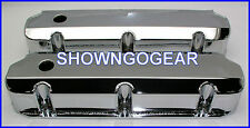 CHROME FABRICATED ROCKER COVERS ALUMINIUM SBF FORD 289 302 351 DRAG WINDSOR