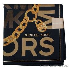 MICHAEL KORS Licensed Japan Handkerchief / Mini Neckscarf Chain Charm MK print
