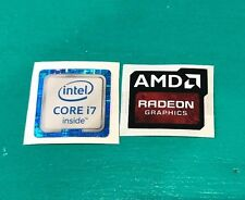 AMD Radeon Graphics Intel Core i7 Sticker Combo 6th/7th Gen Case Badge PC/L