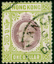 Sg Z830, $1 purple & sage-green, FINE used, CDS. Cat £42. WMK CA. SHANGHAI.