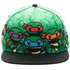 GREEN TEENAGE MUTANT NINJA TURTLES ANIMIGOS SNAPBACK HAT CAP CARTOON TMNT ANIME