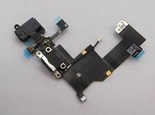 Iphone 5 noir port de charge dock connector headphone flex cable, mic