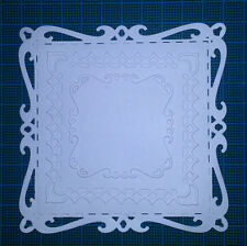 9 square doily card toppers Spellbinders paper die cuts vintage ornament