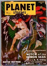 GLOSSY UNREAD Jan 1951 PLANET STORIES Poul Anderson 25c FICTION HOUSE Pulp Mag!