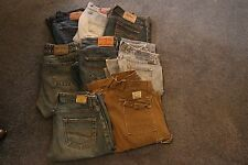 8 Pair of Women's Jeans Size27 Lucky Brand, EXPRESS, BKE, Silver Good Condition!