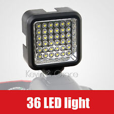 Video Light 36 LED Rechargeable Continuous lighting for Camcorder DV Camera DSLR
