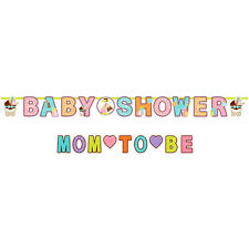 BABY SHOWER Mom to Be JUMBO BANNER ~ Party Supplies Decorations Safari Neutral