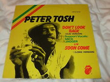 """PETER TOSH Dont Look Back / Soon Come 12"""" Bob Marley Wailers Reggae / RS '79"""