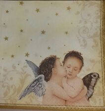 4 x SINGLE PAPER NAPKINS-,ANGELS- DECOUPAGE AND CRAFTS TABLE PARTY - 8