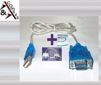 Adapter Kabel USB - Serial RS-232 Seriell RS232 9Pin + Nullmodem Kabel W 7/8/10