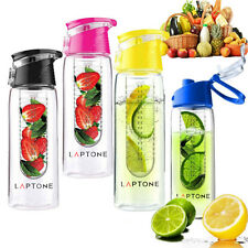 Laptone 800ML Fruit Infusion Infusing Infuser Water Bottle Sports Health Maker