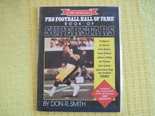 PRO FOOTBALL HALL FAME BOOK OF SUPERSTARS Don R Smith NEW Terry Bradshaw poster